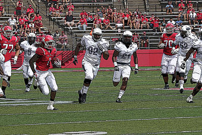 Photograph - Rutgers Touchdown - Janarion Grant by Allen Beatty