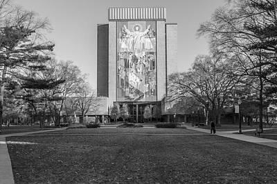 Photograph - Touchdown Jesus Notre Dame  by John McGraw