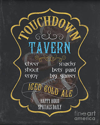 Barrel Painting - Touchdown Tavern by Debbie DeWitt