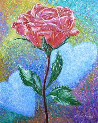 Painting - Touched By A Rose by Amelie Simmons