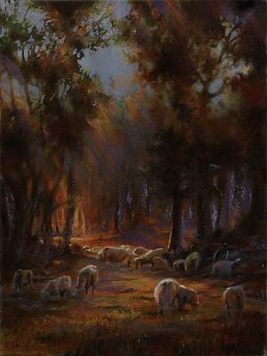 Art Of Mia Delode Painting - Touched By Light by Mia DeLode