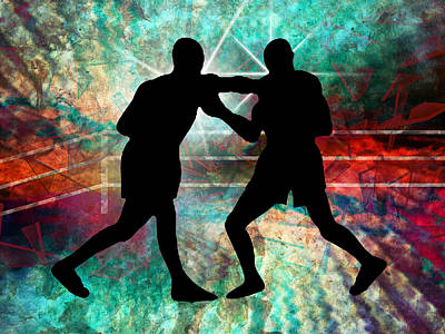 Tough And Gritty Boxing In The Ring Art Print by Elaine Plesser