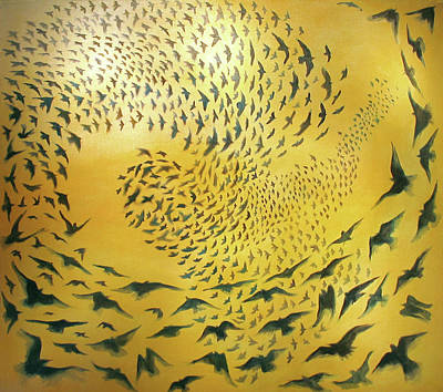 Starlings Painting - Year Four - Tough Counting 2006/2007 by Don Wesley