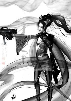 Digital Art - tough girl in China by Fabrizio Uffreduzzi