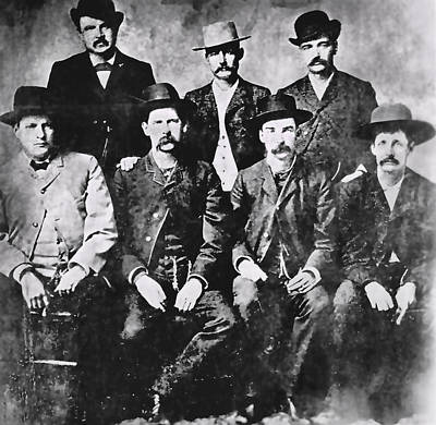 Tough Photograph - Tough Men Of The Old West by Daniel Hagerman