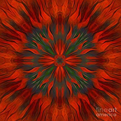Digital Art - Tough Red by Giada Rossi
