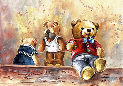 Painting - Tough Ted And His Friends At Newby Hall by Miki De Goodaboom