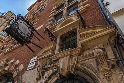 Photograph - Toulouse Old Clock by Georgia Fowler