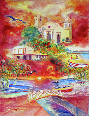 Tour Around Aguadilla Puerto Rico Art Print by Estela Robles