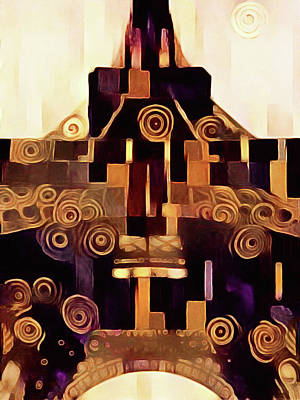 Digital Art - Tour Art Deco Eiffel - Art Deco Eiffel Tower by Susan Maxwell Schmidt