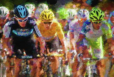 Tour Biking Art Print