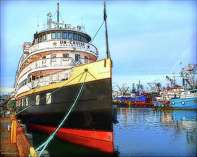 Photograph - Tour Boat At Dock by Tobeimean Peter