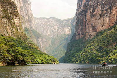 Photograph - Tour Boats In Sumidero Canyon Chiapas by Tim Hester