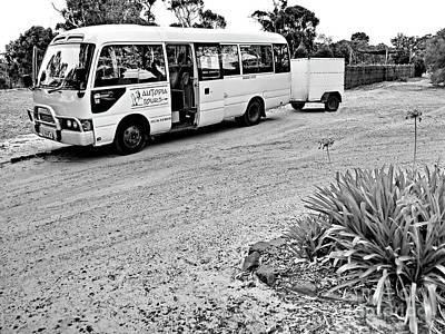 Photograph - Tour Bus Bw by Tim Richards