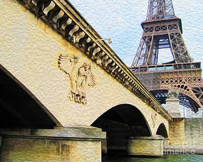 Digital Art - Tour De Eiffel by Joseph Re