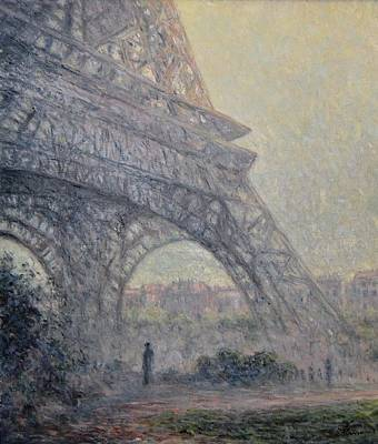 Painting - Paris , Tour De Eiffel  by Pierre Van Dijk