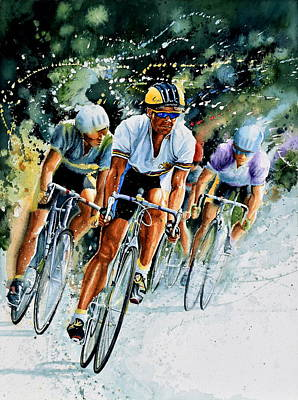 Sports Wall Art - Painting - Tour De Force by Hanne Lore Koehler