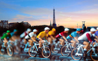 Tour De France Art Print by John Rivera