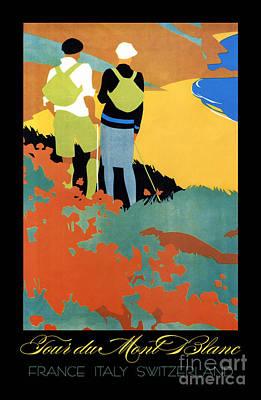 Tour Du Mont Blanc Wall Art - Painting - Tour Du Mont Blanc Travel And Sport by Tina Lavoie