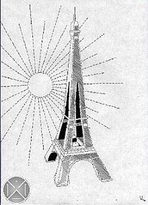 Drawing - Tour Eiffel by Max D Jacob