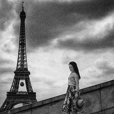 Woman Wall Art - Photograph - Tour Eiffel Mood  #woman #girl by Rafa Rivas