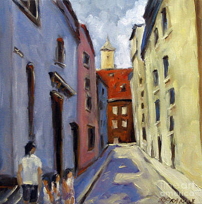 Tour Of The Old Town Art Print by Richard T Pranke