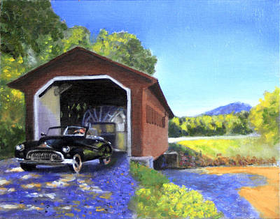 Airstream Trailer Painting - Touring by David Zimmerman