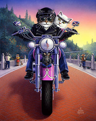 Painting - Touring Tabby by Don Roth