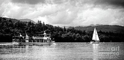 Photograph - Touring The Lakes Black And White by Lance Sheridan-Peel