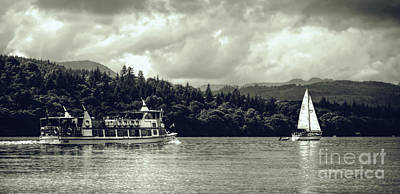 Touring The Lakes In Sepia Art Print