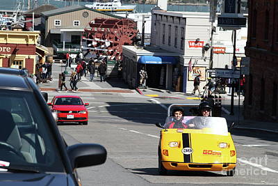 Photograph - Touring The Streets Of San Francisco California In A Gocar 7d14100 by San Francisco