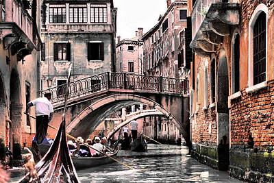 Photograph - Touring Venice Italian Style by Greg Sharpe