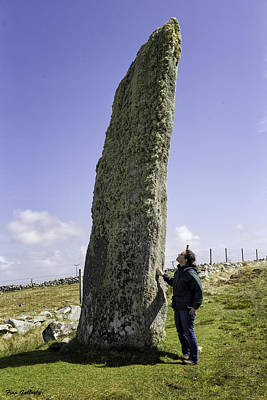 Photograph - Tourist Admires The Trushal Stone by Fran Gallogly