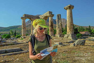 Photograph - Tourist In Ancient Corinth by Benny Marty