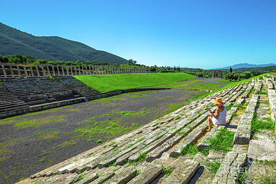 Photograph - Tourist In Ancient Messene by Benny Marty