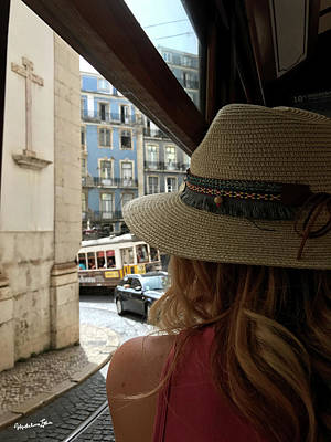 Photograph - Tourist In Lisbon by Madeline Ellis