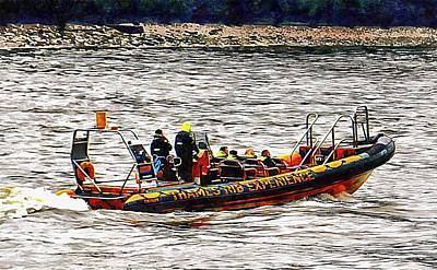 Photograph - Tourist Rib Experience River Thames 1 by Dorothy Berry-Lound