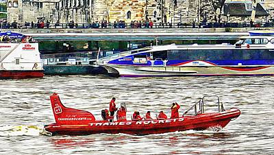 Photograph - Tourist Rib Experience River Thames 2 by Dorothy Berry-Lound