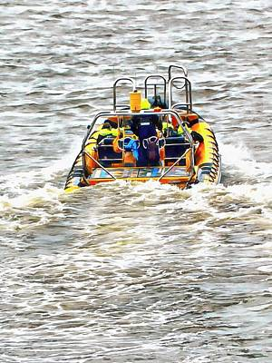 Photograph - Tourist Rib Experience River Thames 3 by Dorothy Berry-Lound