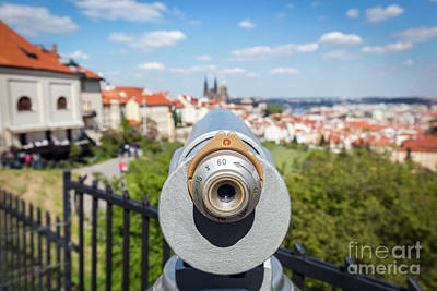 Photograph - Tourist Telescope In Prague, Czech Republic by Michal Bednarek