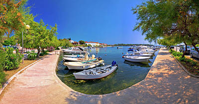 Photograph - Tourist Town Of Petrcane Panoramic Waterfront View by Brch Photography