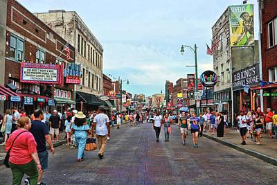 Photograph - Tourist Walk Beale Street - Memphis by Allen Beatty