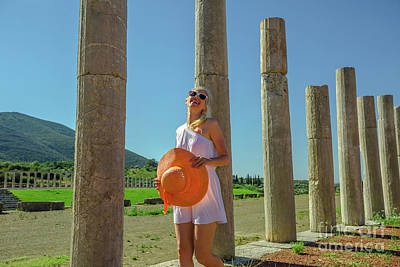 Photograph - Tourist Woman In Greece by Benny Marty