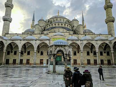 Photograph - Tourists And The Blue Mosque by Ty Agha
