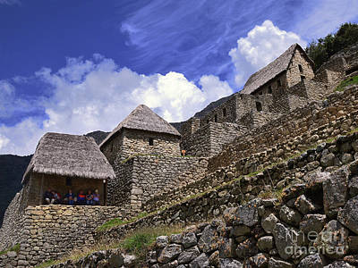 Target Threshold Nature Rights Managed Images - Tourists at Machu Picchu Royalty-Free Image by Catherine Sherman