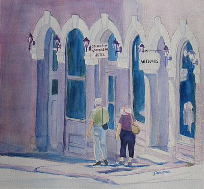 Ghost Town Painting - Tourists In Central City by Jenny Armitage