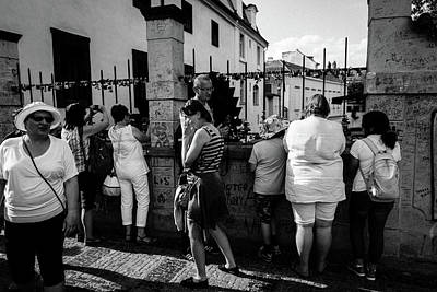 Photograph - Tourists by M G Whittingham