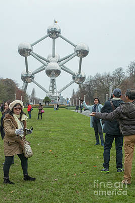 Photograph - Tourists Making Photos  by Patricia Hofmeester