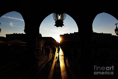 Photograph - Tourists On The Main Market Square In Cracow by Michal Bednarek
