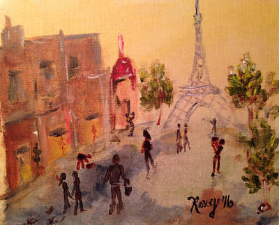 Cities Painting - Tourists by Roxy Rich